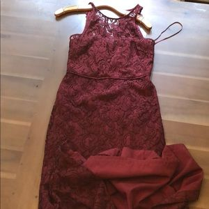 Wine Red J Crew Dress